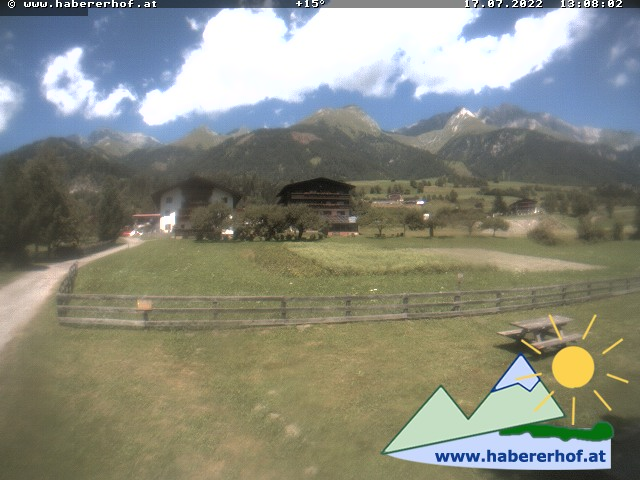 Webcam Webcam Virgen in Richtung Westen zum Habererhof